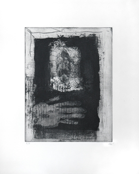 Etching aquaforte aquatint de  : The hand