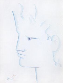 Cocteau Jean : Dessin original signé : Orphée