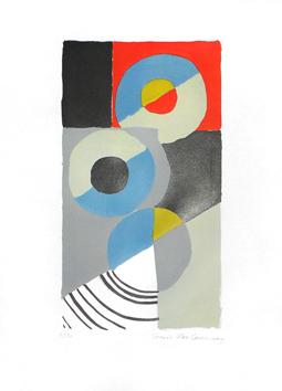 Delaunay Sonia : Lithographie originale signée : Composition I