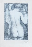 Signierte Originallithographie de  : Titelbild für Pierre Louys Gedichte