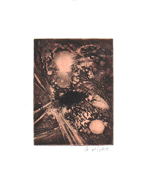 Original signed etching de Visat Georges : Without title VII