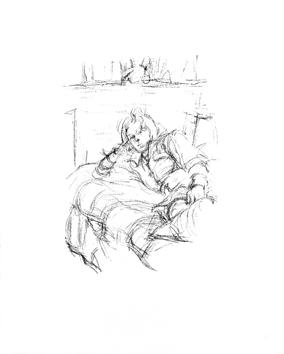 Giacometti Alberto : Lithographie originale : Femme couchée