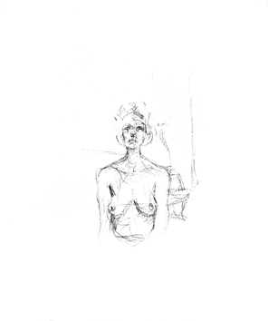 Giacometti Alberto : Lithographie originale : Buste I