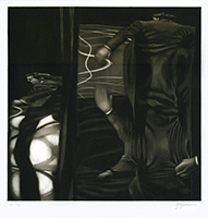 Original signed mezzotint de Braun Guy : Distorsion III