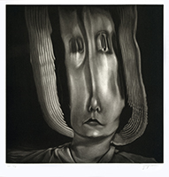 Original signed mezzotint de Braun Guy : Distorsion I