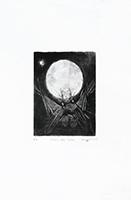 Gravure originale signée de  : Clair de lune