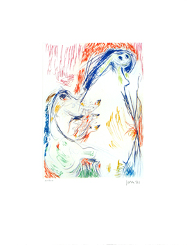 Signed etching de  : Proposition enceinte
