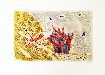 Bois gravé original signé de  : Un nid de coucou