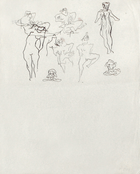 Original drawing de  : Studies for sculptures