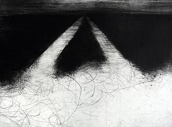 Gravure originale signée de  : Paysage VIII - Le chemin