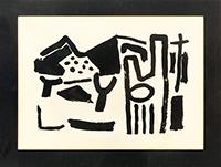 Lithographie originale signée de  : Paysage des Alpilles II