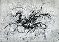 Gravure originale signée de  : The entagled self 7