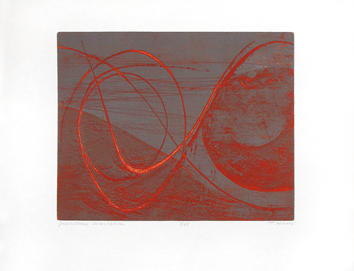 Original signed etching de Haass Terry : Gravitational interaction