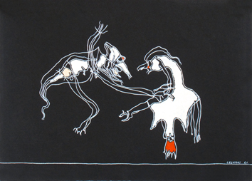Signed acrylic on paper de  : Rituels 9