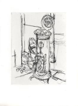 Giacometti Alberto : Gravure eau-forte originale : Le Poêle