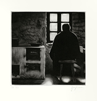 Original signed mezzotint de Braun Guy : Médiation