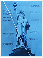 Estampe originale signée de Monory Jacques : Statue of Liberty - USA 76. Bicentenaire Kit