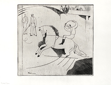 Original signed etching de  : Le Jockey d'Epsom