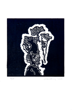 Signed woodcut de Scanreigh Jean-Marc : Desna