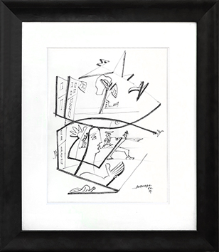 Original signed ink de  : Character in the city