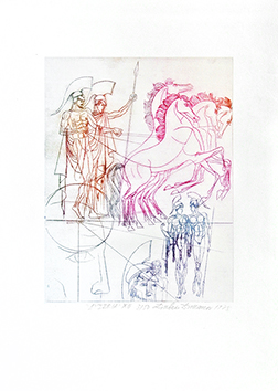 Original signed etching de  : Odyssée IX