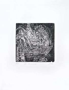 Bois gravé original signé de  : Cité lumineuse