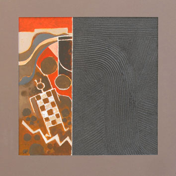 Signed single work de  : Pueblo and gray sand II