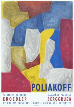Poliakoff Serge : Affiche lithographie originale : Affiche Knoedler et Berggruen