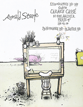 Originales Lithographieplakat de  : Ronald Searle
