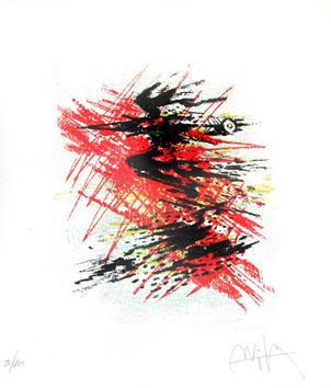 Lam Wifredo : Lithographie originale signée : Sans titre V
