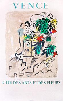 Chagall Marc : Affiche originale : Vence