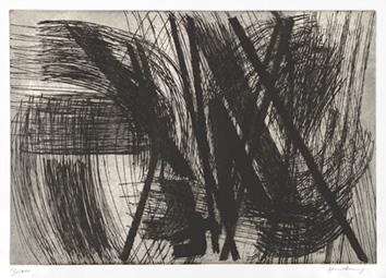 Hartung Hans : Gravure originale signée : Composition X