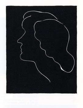 Matisse Henri : Linogravure : Variation sur un profil II