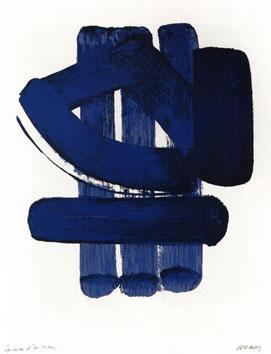 Soulages Pierre : Lithographie originale signée : Lithographie n°37