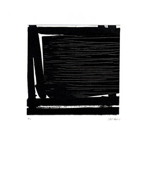 Soulages Pierre : Gravure eau-forte originale : Eau-forte n° XLI
