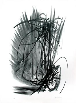 Hartung Hans : Lithographie originale signée : L 121
