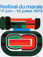 Serigraphieplakat de  : Festival du Marais