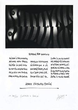 Gravure originale signée de  : Hommage a Parini