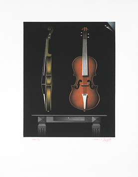 Original signed mezzotint de  : L'amati d'Avati