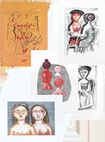 Litografie originali firmate de  : Campigli La Ruche