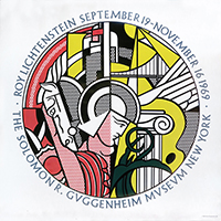 Screenprint poster de Lichtenstein Roy : The Solomon R. Guggenheim Museum III