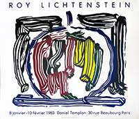 Screenprint poster de Lichtenstein Roy : Apple, Daniel Templon