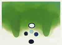 Gravure aquatinte de Pasmore Victor : Green darkness