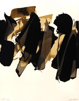 Soulages Pierre : Lithographie originale signée : Lithographie n° 14