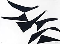 Signierte Originalserigraphie de  : Komposition XVII