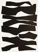 Signierte Originallithographie de  : Komposition XIX