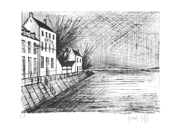 Signed etching de  : The hotel