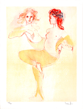 Signed lithograph de  : The two friends II