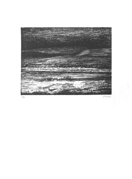 Moore Henry : Lithographie originale signée : Paysage