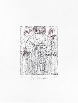 Bois gravé original de  : Les griffes du mal ou le mythe Luciférien